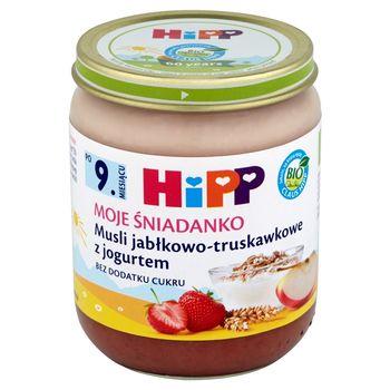 HiPP BIO Moje Śniadanko Musli jabłkowo-truskawkowe z jogurtem po 9. miesiącu 160 g