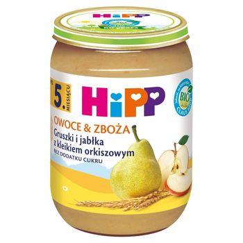 HiPP BIO Owoce & Zboża Gruszki i jabłka z kleikiem orkiszowym po 5. miesiącu 190 g