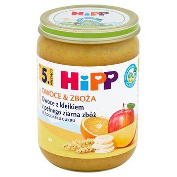 HiPP BIO Owoce & Zboża Owoce z kleikiem z pełnego ziarna zbóż po 5. miesiącu 190 g