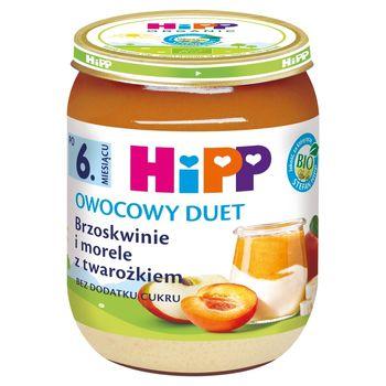 HiPP BIO Owocowy Duet Brzoskwinie i morele z twarożkiem po 6. miesiącu 160 g