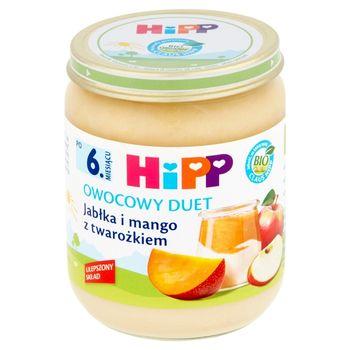 HiPP BIO Owocowy Duet Jabłka i mango z twarożkiem po 6. miesiącu 160 g