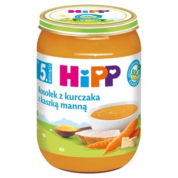 HiPP BIO Rosołek z kurczaka z kaszką manną po 5. miesiącu 190 g