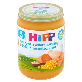 HiPP BIO Warzywa z amarantusem i słodkim ziemniaczkiem po 5. miesiącu 190 g