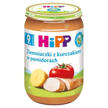 HiPP BIO Ziemniaczki z kurczakiem w pomidorach po 9. miesiącu 220 g