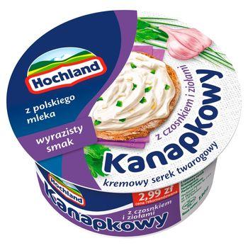 Hochland Kanapkowy serek kremowy z czosnkiem i ziołami 130 g