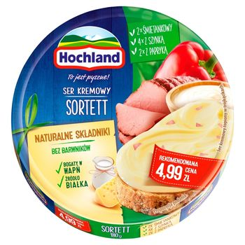 Hochland Ser kremowy sortett w trójkącikach 180 g