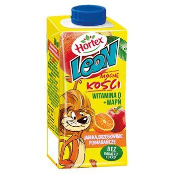 Hortex Leon Napój wieloowocowy jabłka brzoskwinie pomarańcze 200 ml