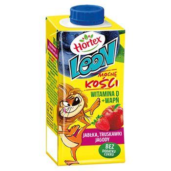 Hortex Leon Napój wieloowocowy jabłka truskawki aronia jagody 200 ml