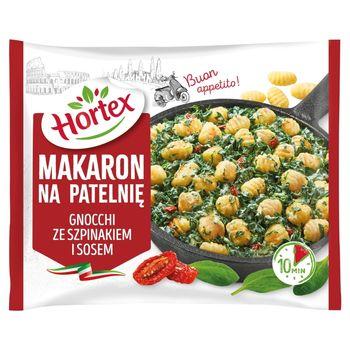 Hortex Makaron na patelnię gnocchi ze szpinakiem i sosem 450 g