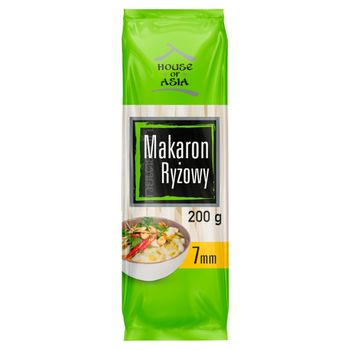 House of Asia Bezglutenowy makaron ryżowy 7 mm 200 g