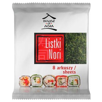 House of Asia Sushi Nori Premium Liście alg morskich 8 sztuk