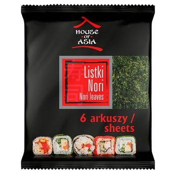 House of Asia Sushi Nori Liście alg morskich 6 sztuk