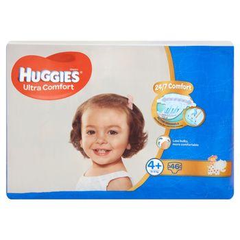 Huggies Ultra Comfort Pieluszki 4+ 10-16 kg 46 sztuk
