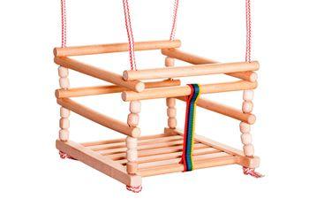 Huśtawka dla Dzieci z Zabezpieczeniami JMS Drewniana