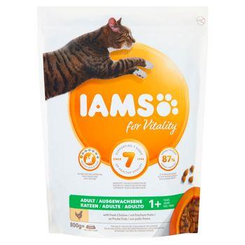 IAMS for Vitality Karma dla dorosłych kotów ze świeżym kurczakiem 800 g