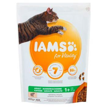 IAMS for Vitality Karma dla dorosłych kotów ze świeżym łososiem 800 g