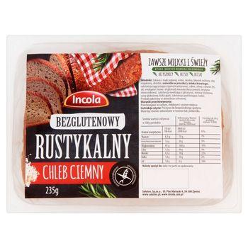 Incola Bezglutenowy rustykalny chleb ciemny 235 g