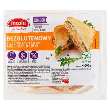 Incola Chleb tostowy jasny bezglutenowy 200 g