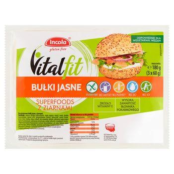 Incola Vitalfit Bułki jasne superfoods z ziarnami 180 g (3 x 60 g)