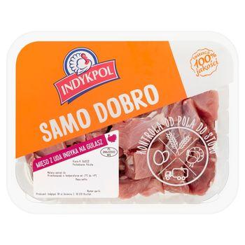 Indykpol Samo dobro Mięso z uda indyka na gulasz 400 g