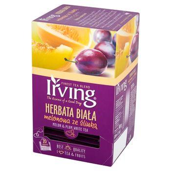 Irving Herbata biała melonowa ze śliwką 30 g (20 torebek)