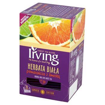 Irving Herbata biała pomarańcza z limetką 30 g (20 torebek)