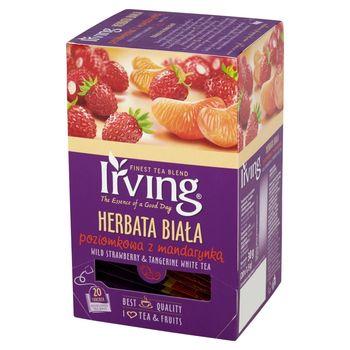 Irving Herbata biała poziomkowa z mandarynką 30 g (20 torebek)