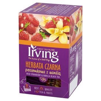 Irving Herbata czarna poziomkowa z wanilią 30 g (20 torebek)