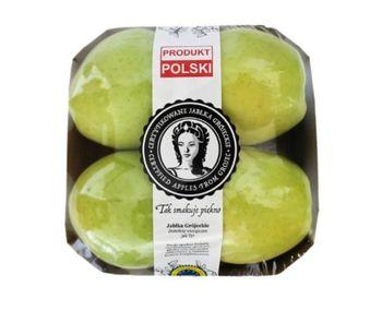 Jabłka Grójeckie Golden Delicious - tacka 4 sztuki