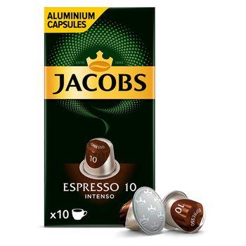 Jacobs Espresso Intenso Kawa mielona w kapsułkach 52 g (10 sztuk)