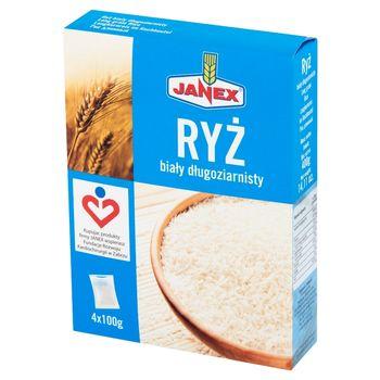 Janex Ryż biały długoziarnisty 400 g (4 x 100 g)