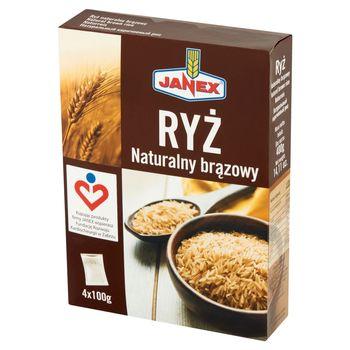 Janex Ryż naturalny brązowy 400 g (4 x 100 g)