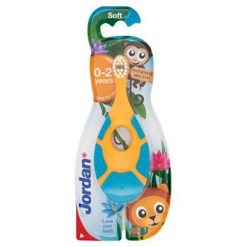 Jordan Step by Step Szczoteczka do zębów dla dzieci 0-2 lat miękka