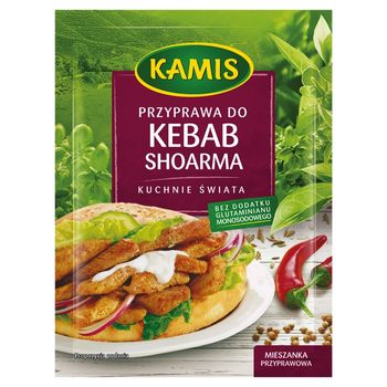 Kamis Kuchnie świata Przyprawa do kebab shoarma Mieszanka przyprawowa 25 g