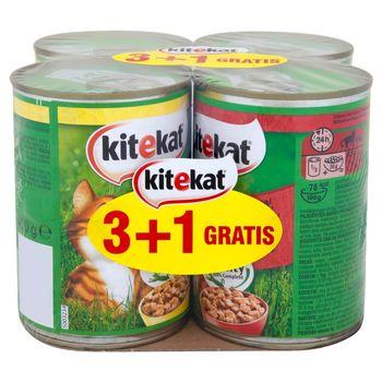 Kitekat z kurczakiem w sosie i z wołowiną w sosie Karma pełnoporcjowa 4 x 400 g