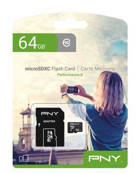 Karta pamięci PNY microSDXC 64GB Class 10 z adapterem