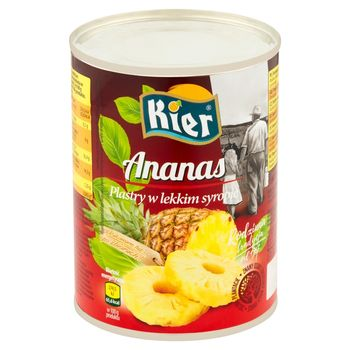 Kier Ananas plastry w lekkim syropie 565 g
