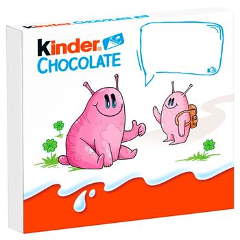 Kinder Chocolate Batoniki z mlecznej czekolady z nadzieniem mlecznym 50 g (4 x 12,5 g)