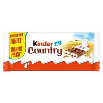 Kinder Country Czekolada mleczna z nadzieniem mlecznym i zbożami 94 g (4 x 23,5 g)