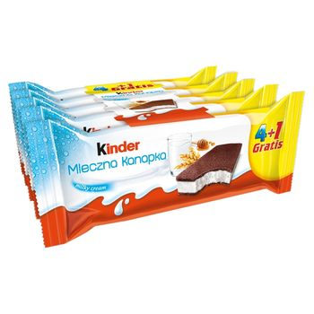 Kinder Mleczna Kanapka Biszkopt z mlecznym nadzieniem 5 x 28 g