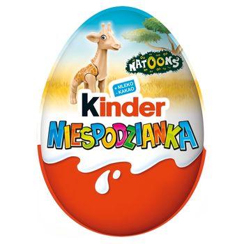 Kinder Niespodzianka Słodkie jajko z niespodzianką pokryte czekoladą mleczną 20 g