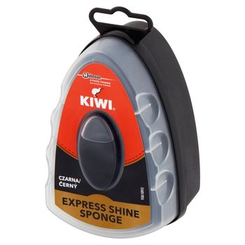 Kiwi Express Shine Gąbka nabłyszczająca do obuwia czarna 7 ml