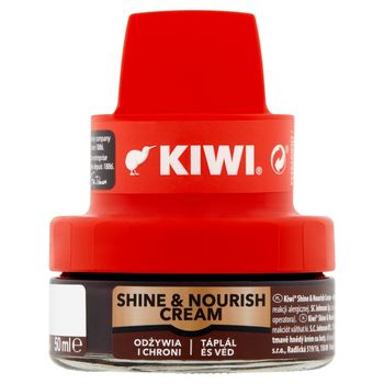 Kiwi Shine & Nourish Cream Krem do obuwia ciemny brąz 50 ml