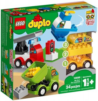 Klocki plastikowe LEGO Moje pierwsze samochodziki 10886