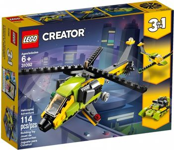 Klocki plastikowe LEGO Przygoda z helikopterem 31092