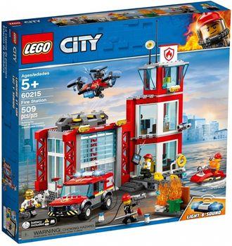 Klocki plastikowe LEGO Remiza strażacka 60215