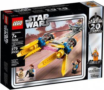 Klocki plastikowe LEGO Ścigacz Anakina edycja rocznicowa 75258