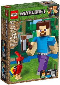 Klocki plastikowe LEGO Steve z papugą 21148