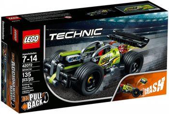Klocki plastikowe LEGO Technic Wyścigówka Żółty 42072
