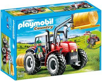 Klocki plastikowe PLAYMOBIL Duży traktor z wyposażeniem 6867
